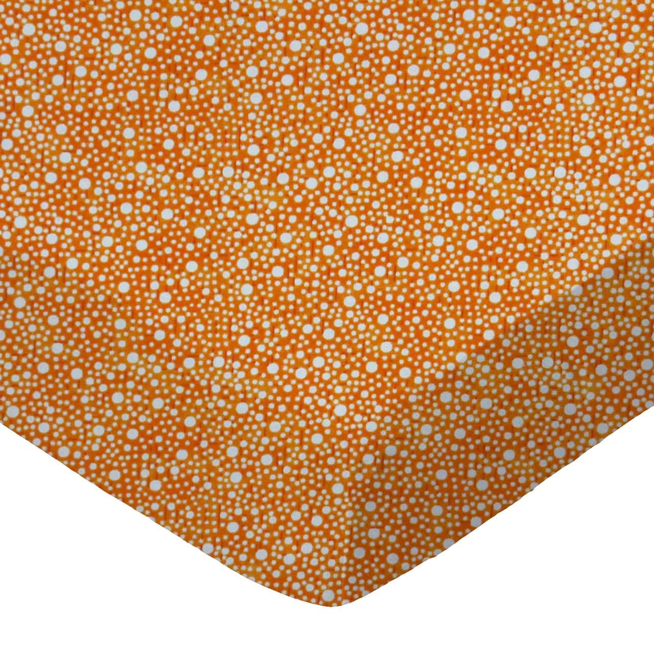 Confetti Dots Brown Made in USA SheetWorld Fitted Cradle Sheet 18 x 36