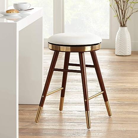 Sensational Amazon Com Parker White Leather Backless Counter Stool Machost Co Dining Chair Design Ideas Machostcouk