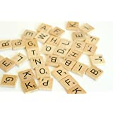 E-FAST?? Wooden Scrabble Tiles Full Set Of 100, Craft, Board Games, Jewellery Making Kit by E-FAST??