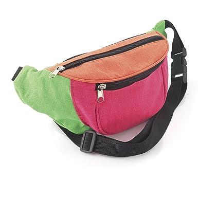 Bright Neon Multi-Coloured Fabric Bum Bag   Fanny Pack - Festivals  Club  Wear  Holiday Wear  Amazon.co.uk  Clothing 01e6bdac6d4b7