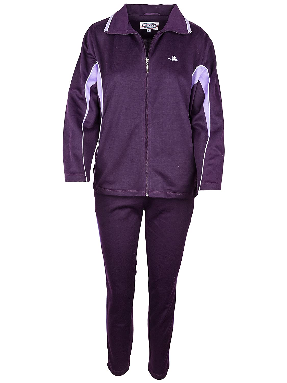 Jogginganzug Freizeitanzug SOUNON/® Damen Baumwolle Trainingsanzug Model 2 Sportanzug Hausanzug