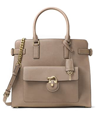 Image Unavailable. Image not available for. Color  Michael Kors Emma Large  North South Saffiano Leather Tote (Dark Dune) 6c94c80cb1