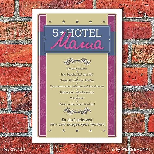 Cartel retro vintage regalo 5 estrellas Hotel Mama Mensaje ...