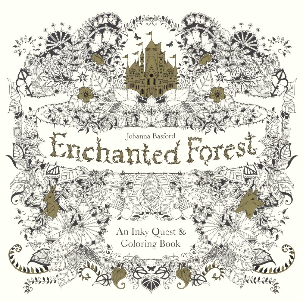 Enchanted Forest An Inky Quest Coloring Book Amazoncouk Johanna Basford 9780606371186 Books