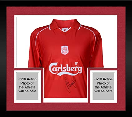 newest b3525 adeef Framed Jamie Carragher Liverpool Autographed Red 2001-2002 ...
