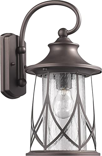 Chloe Lighting CH822040RB15-OD1 Transitional 1 Light Rubbed Bronze Outdoor Wall Sconce 15 Height