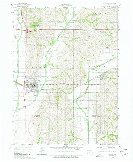 Amazon Com Villisca Ia Topo Map 1 24000 Scale 7 5 X 7 5 Minute