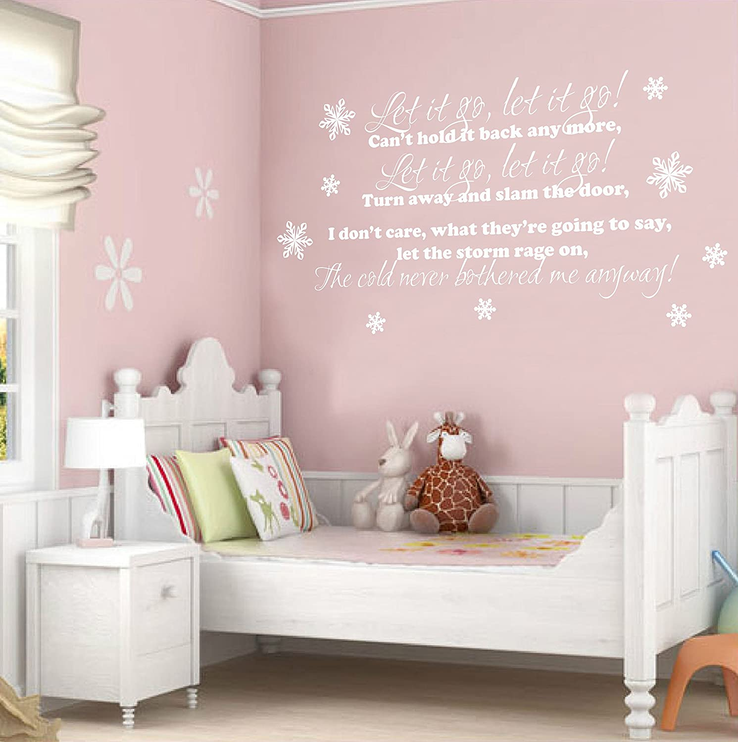 TheStickerStop   Disney Frozen   Let It Go Lyrics   Wall Sticker Wall Art  (Large 680 X 1300mm): Amazon.co.uk: Kitchen U0026 Home
