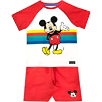 Disney Camiseta Conjunto de Top y Shorts para niños Mickey Mouse