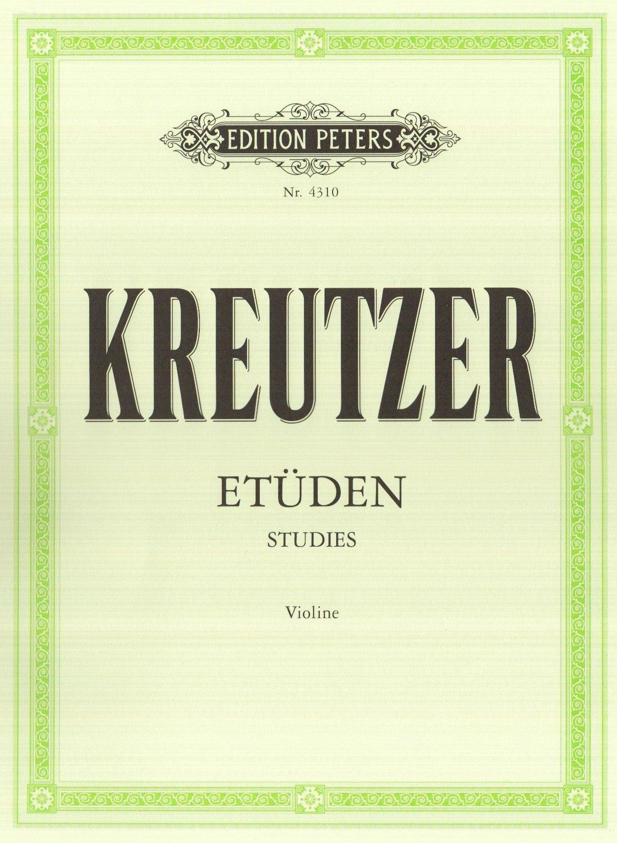 42 études (édition Peters) - violon (Allemand) Broché – 1 janvier 2000 Kreutzer B00006M2JA Musikalien Andere darstellende Künste