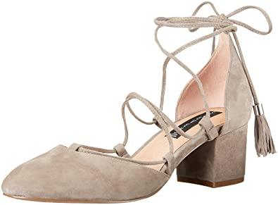 STEVEN by Steve Madden Women's Valo Dress Pump, Grey Suede, ...