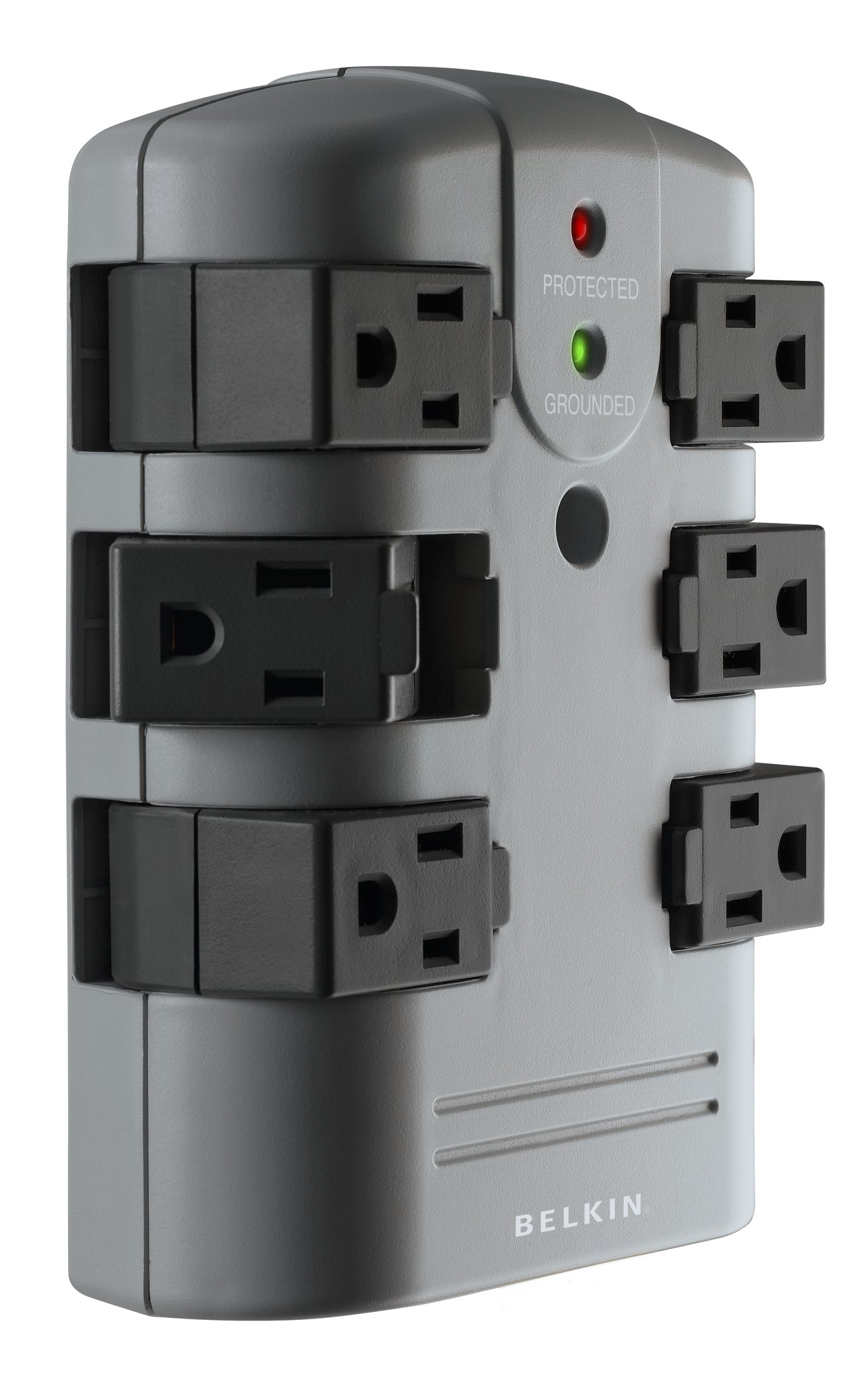 Belkin 6-Outlet Pivot-Plug Wall Mount Power Strip Surge Protector, 1080 Joules (BP106000)