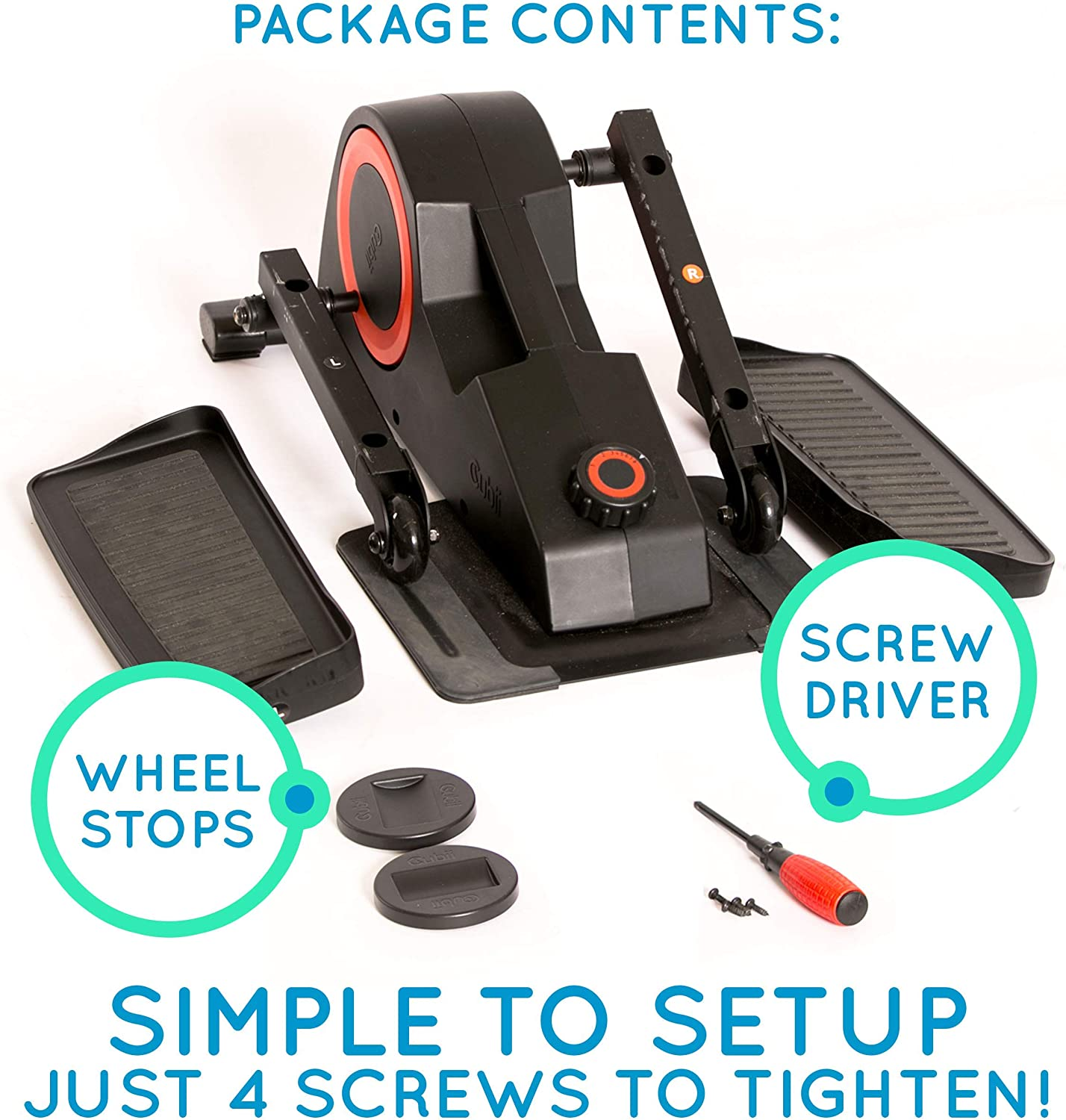 Cubii Pro Seated Under Desk Elliptical Machine for Home