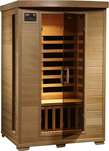 Radiant Saunas 2-Person Hemlock Infrared Sauna with 6 Carbon Heaters, Chromotherapy Lighting, Oxygen Ionizer
