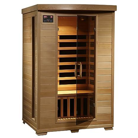 Terrific Radiant Saunas 2 Person Hemlock Infrared Sauna With 6 Carbon Heaters Chromotherapy Lighting Oxygen Ionizer Machost Co Dining Chair Design Ideas Machostcouk