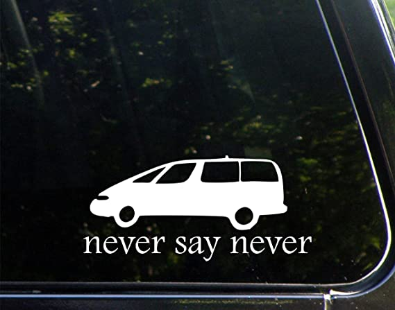 Sign Depot Never Say Never with Minivan - 8