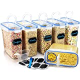 Wildone Plastic Cereal Containers Set | 6 Large (16.9 Cups, 135.3oz) Airtight Food Storage Containers - Leak-proof, BPA…