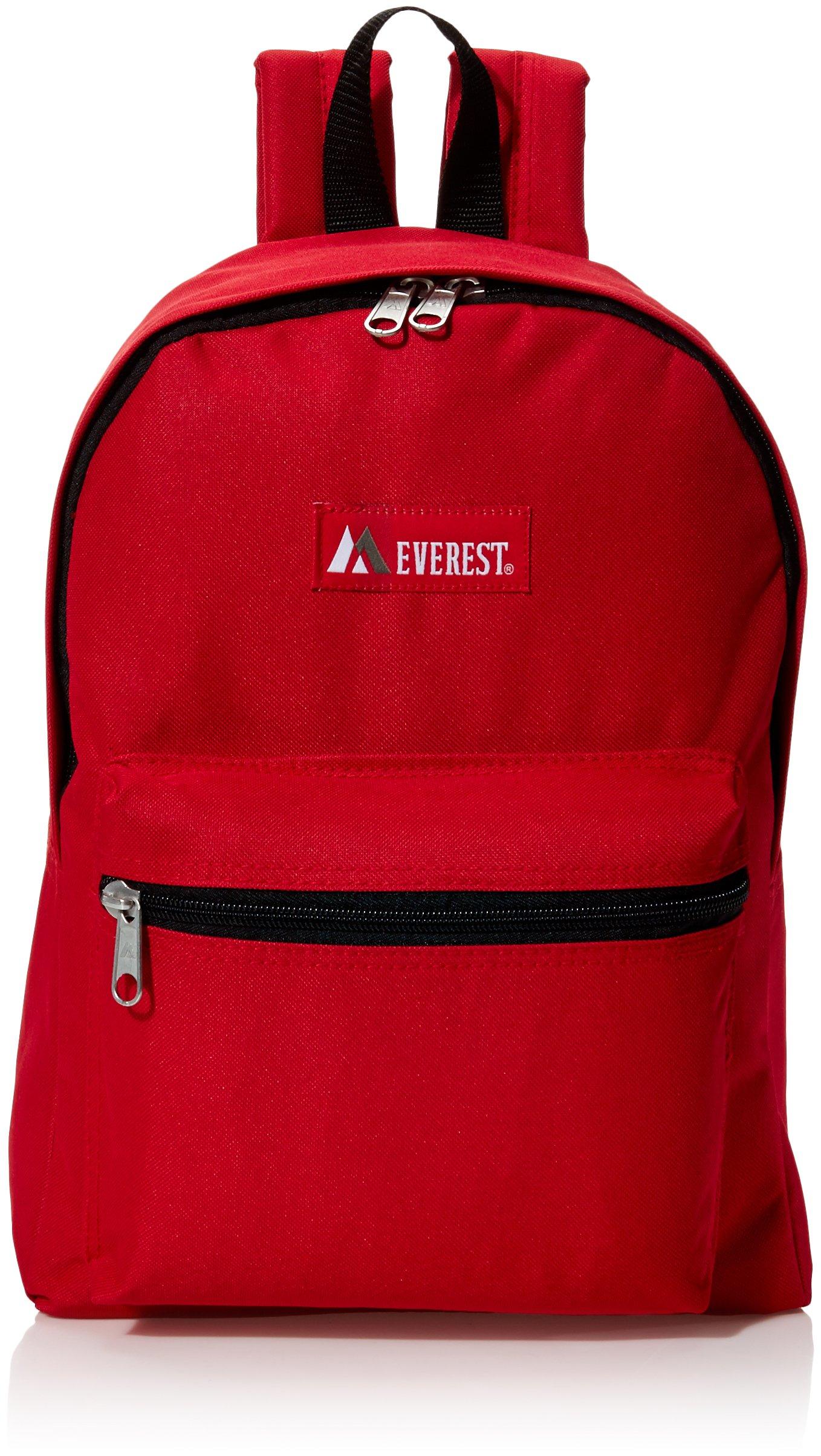 Everest Luggage Basic Backpack, Red, Medium by Everest