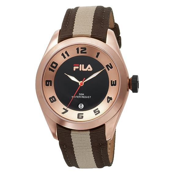 Fila Matchday Fila - Reloj analógico de caballero de cuarzo con correa de piel multicolor