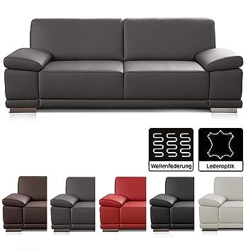 Cavadore 3 Sitzer Sofa Corianne In Kunstleder Leder Couch In