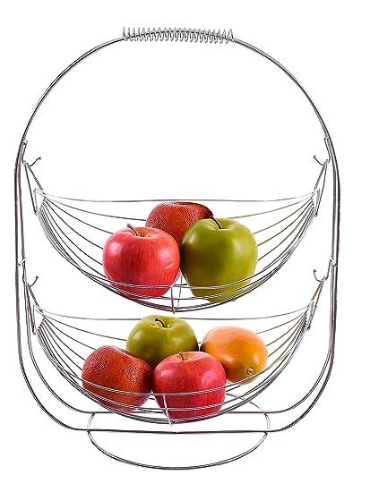 Amazon.com: Kitchen Sense 2-tier Chrome Plated Wire Swinging ...