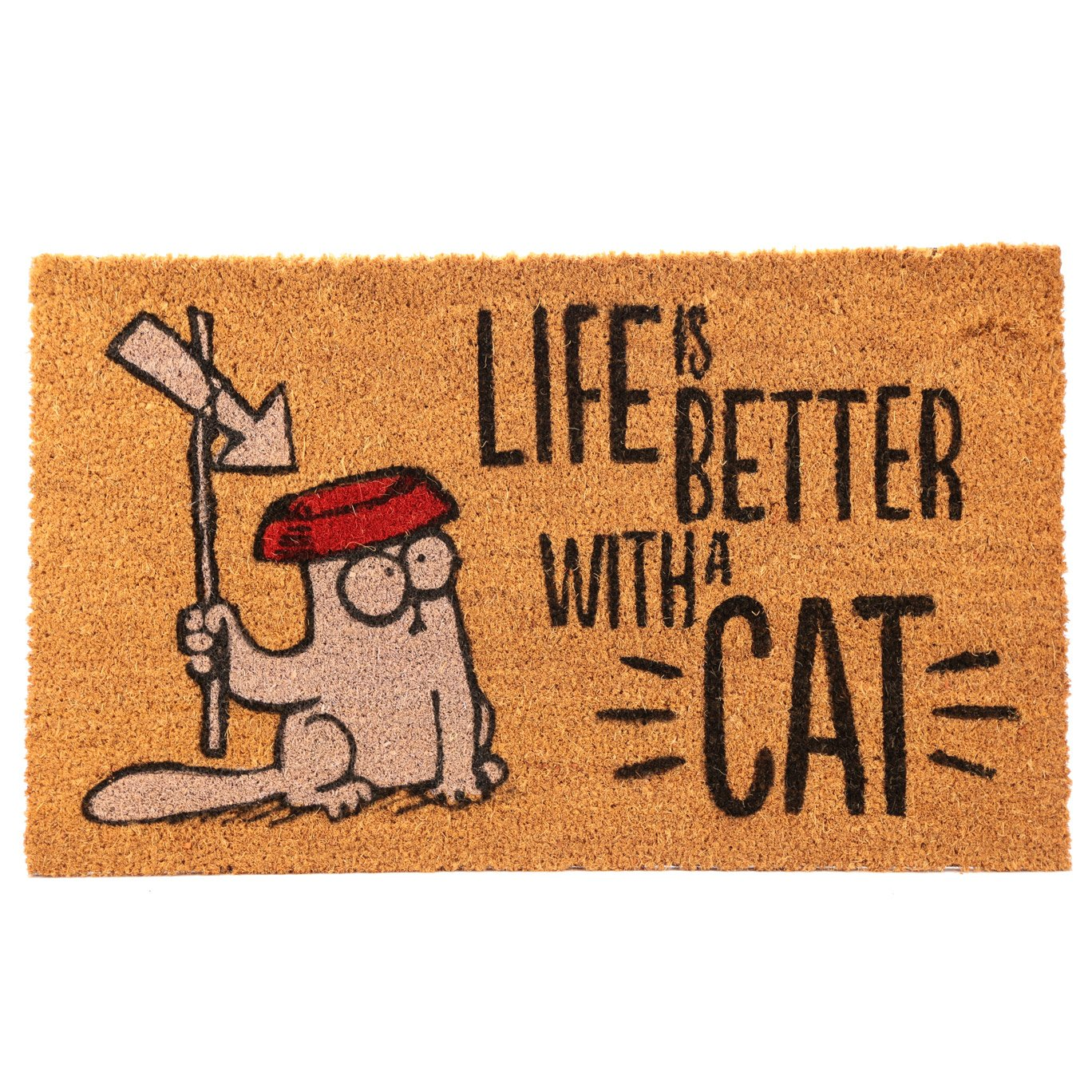 Simon's Cat Fußmatte LIFE IS BETTER WITH A CAT