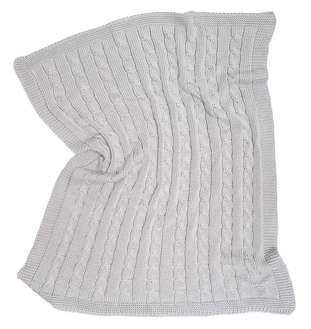 Size: 35 x 28 100/% Organic Cotton Nursery and Playtime Wallaboo Newborn Knitted Baby Blanket Baby Throw Blanket for Stroller Soft Stroller Blanket With Wide Ribbed Border Color: White