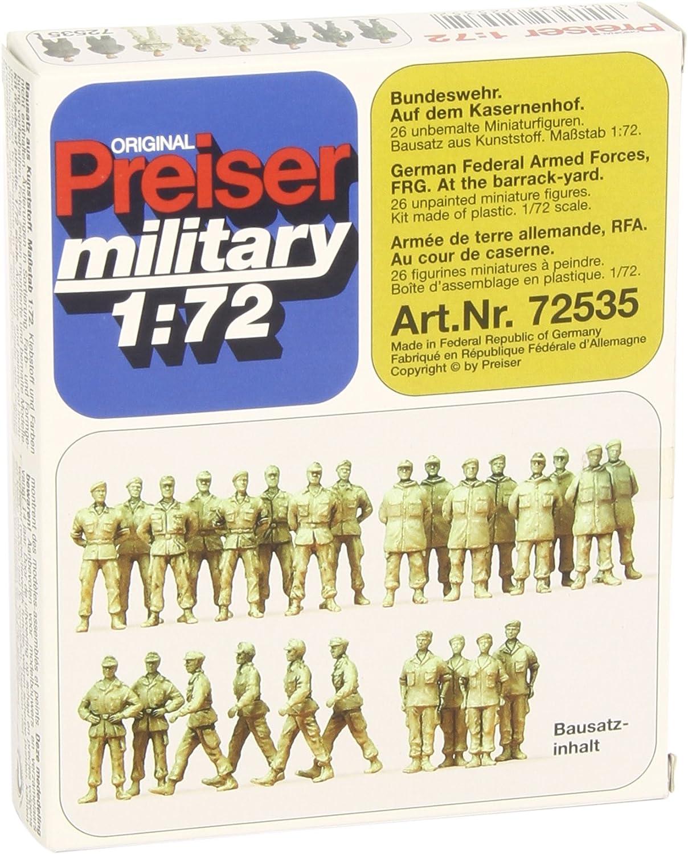 Mod/élisme Ferroviaire Preiser 1//72 /Ème 26 Soldats Allemagne F/éd/érale /à Peindre PR72535
