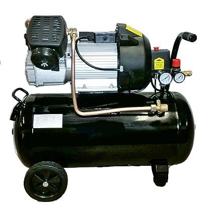 Compresor de aire, 3 CV, 50 litros, 230 V: Amazon.es: Coche y moto