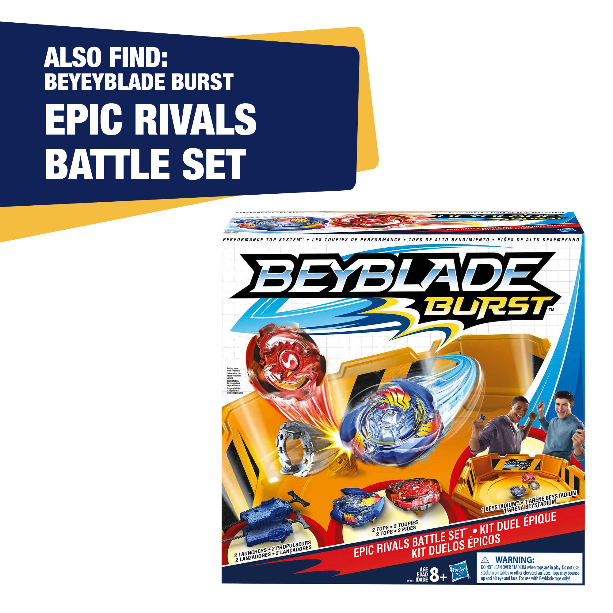 Beyblade Burst Evolution Elite Warrior 4-Pack - 4 Iconic Right-Spin Battling Tops, Age 8+ Toy E2458AC1 (Amazon Exclusive) by BEYBLADE (Image #6)