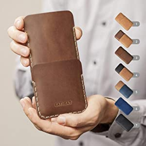 Bovine Leather Case works with HP Elite x3 Personalized Cover Wallet with Pocket for Cards and Cash, Sleeve Pouch Shell Monogram your Name (we do these cases any size you want)