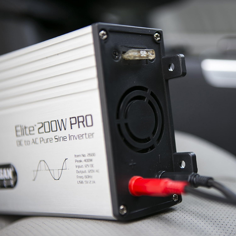 Wagan El2600 Elite Pro 200w Pure Sine Inverter Automotive How To Build A100 Watt Wave Circuit Homemade