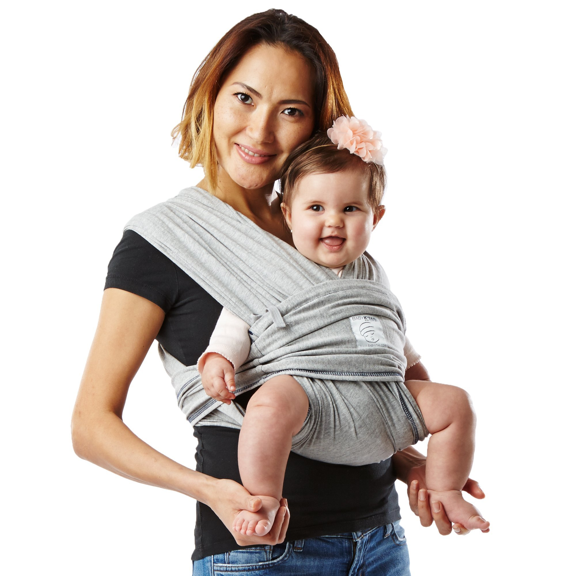 Baby K'tan ORIGINAL Baby Carrier, Heather Grey Stretch Cotton (XS)