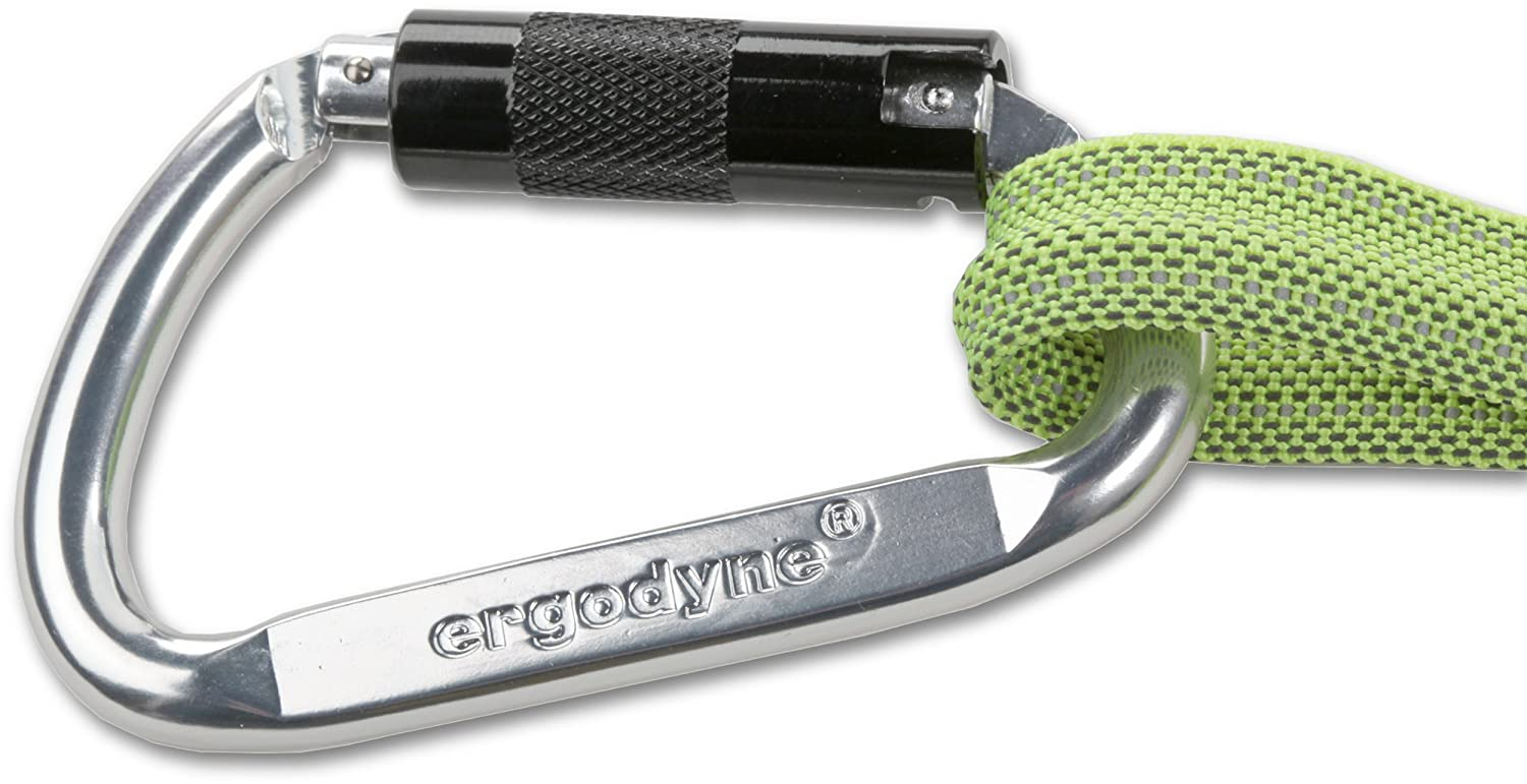 Ergodyne Squids 3108 Heavy-Duty Self-Locking Single Carabiner Lime