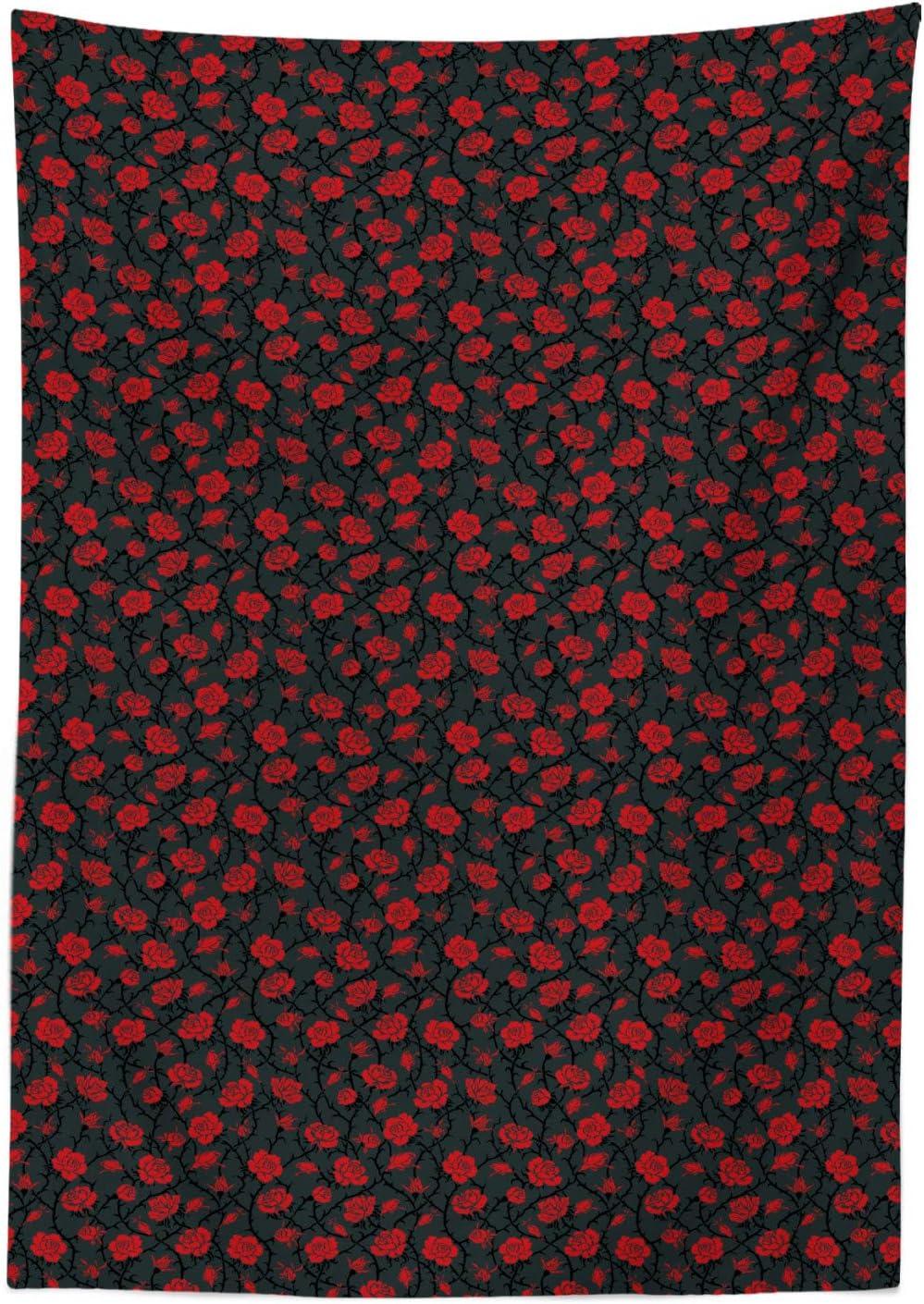 Azul Rojo Verde ABAKUHAUS Mariquitas Mantele Resistente al Agua Lavable Colores No Desti/ñen Personalizado 140 x 170 cm Fresa Retro Daisy