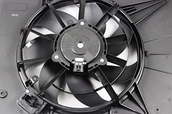 Amazon.com: BOXI Engine Cooling Fan Assembly For Ford Fiesta 2011-2013 / Ford Fiesta 2014-2017 L4 1.6L with Air Conditioning (excluding Turbo Models) ...