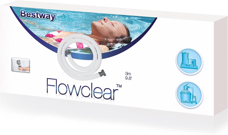 Amazon.com: Manguera y tuerca de piscina Bestway Flowclear ...