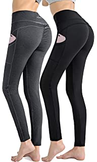 1ea97589057b0 RUNNING GIRL Women Sexy Butt Lifting Yoga Pants with Pockets Push Up  Leggings High Waist Workout