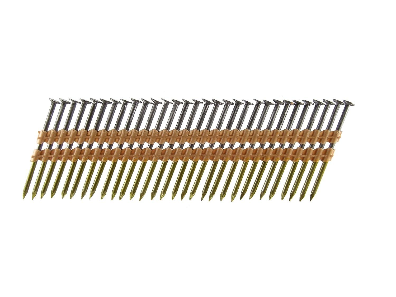 B C Eagle A3X131 22 Round Head 3 Inch x .131 x 22 Degree Bright Smooth Shank Plastic Collated Framing Nails 500 per box