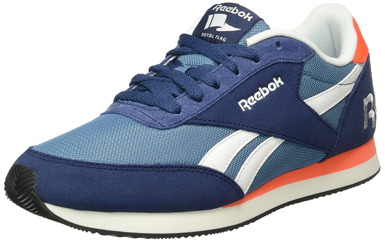 Reebok Herren Royal CL Jog 2rs Turnschuhe  45.5 EU|Blau (Blue Ink/Slate/Atomic Red/White/Black)