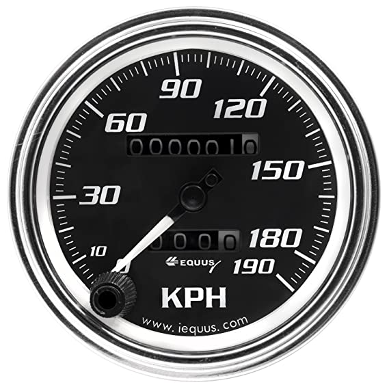 8 Mechanical Kph Speedometer Chrome