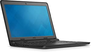 Dell Chromebook 11, Intel Celeron-N2840 Proc, 4GB RAM DDR3L Memory, 16GB eMMC SSD Storage, Chrome OS, Black