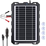 POWOXI-9W-Solar-Battery-Trickle-Charger-Maintainer -12V Portable Waterproof Solar Panel Trickle Charging Kit for Car, Motorcy