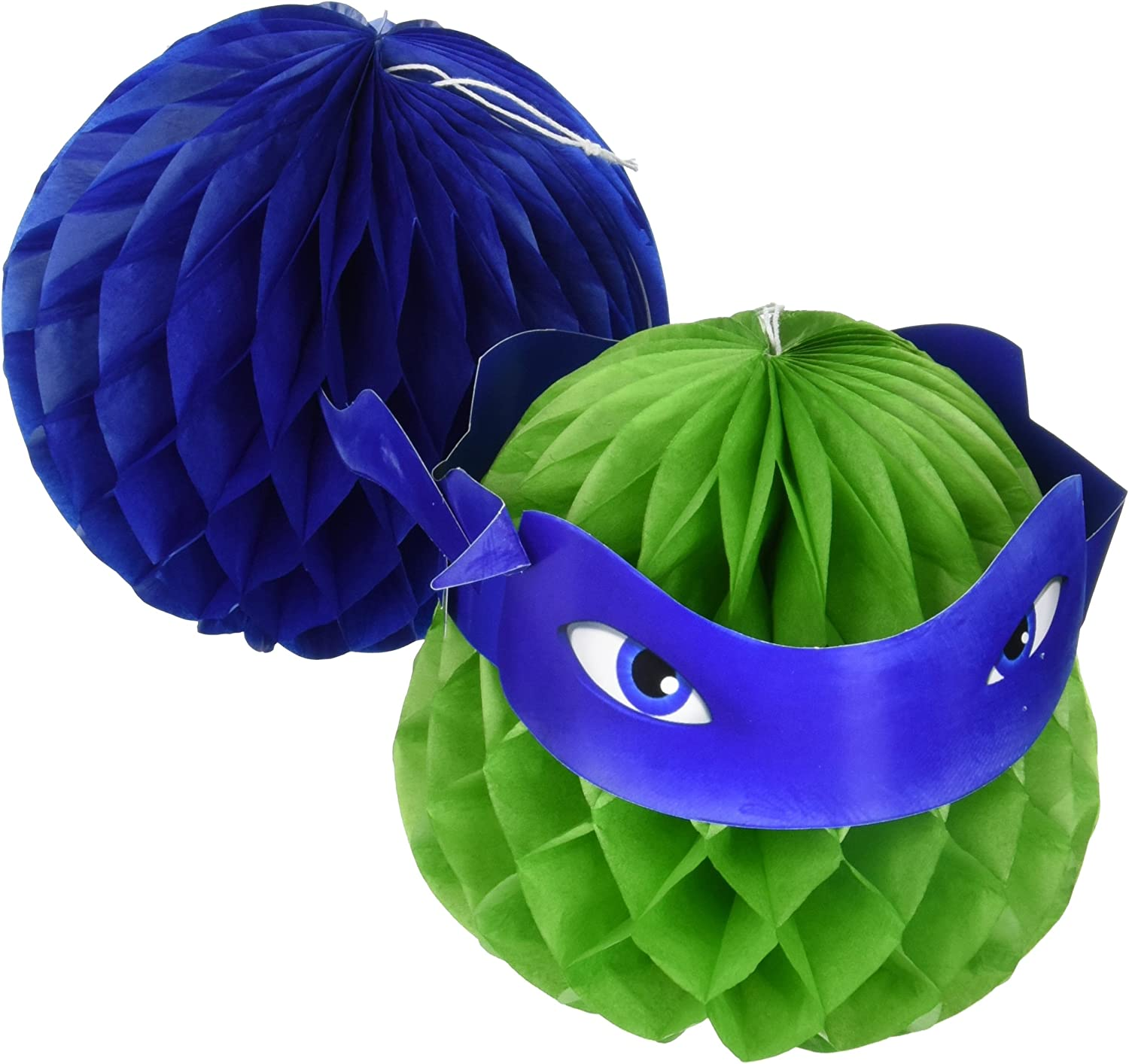 Amscan TMNT Honeycomb Decorations, Party Favor