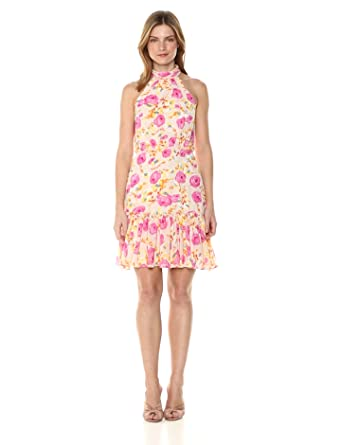 8db34ee1ec29 Betsey Johnson Women's Floral Chiffon Dress at Amazon Women's ...