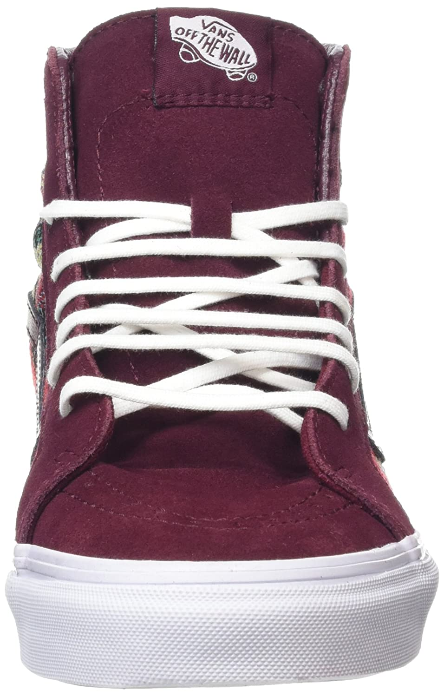 84da9cc591 Amazon.com  Vans SK8-Hi Slim Italian Weave Port Royale Multi Skate Shoes   Shoes