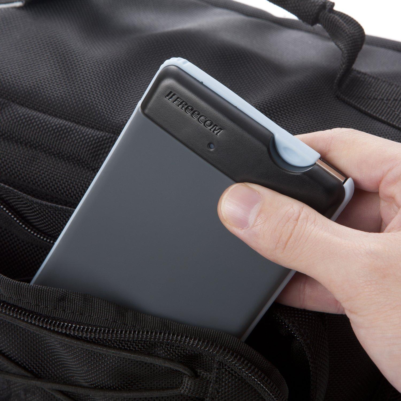 Freecom Tough Drive 500GB 3.0 USB Shock-Resistant Mobile External Hard Drive, Dark Grey 97710 by Verbatim