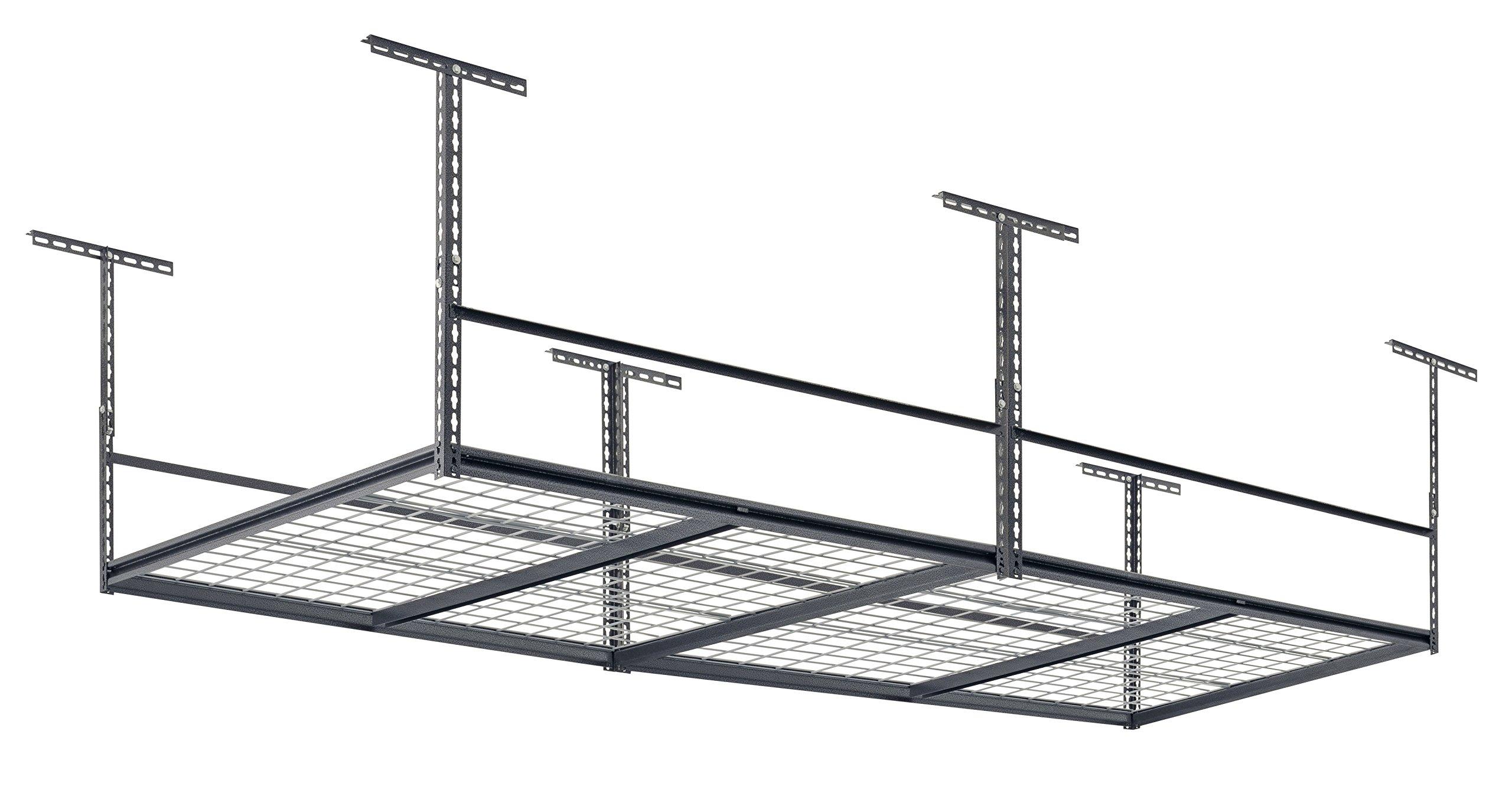 Muscle Rack LR4896-SV 96''W x 48''D Overhead Garage Adjustable Ceiling Storage Rack , 42'' Height, 96'' width