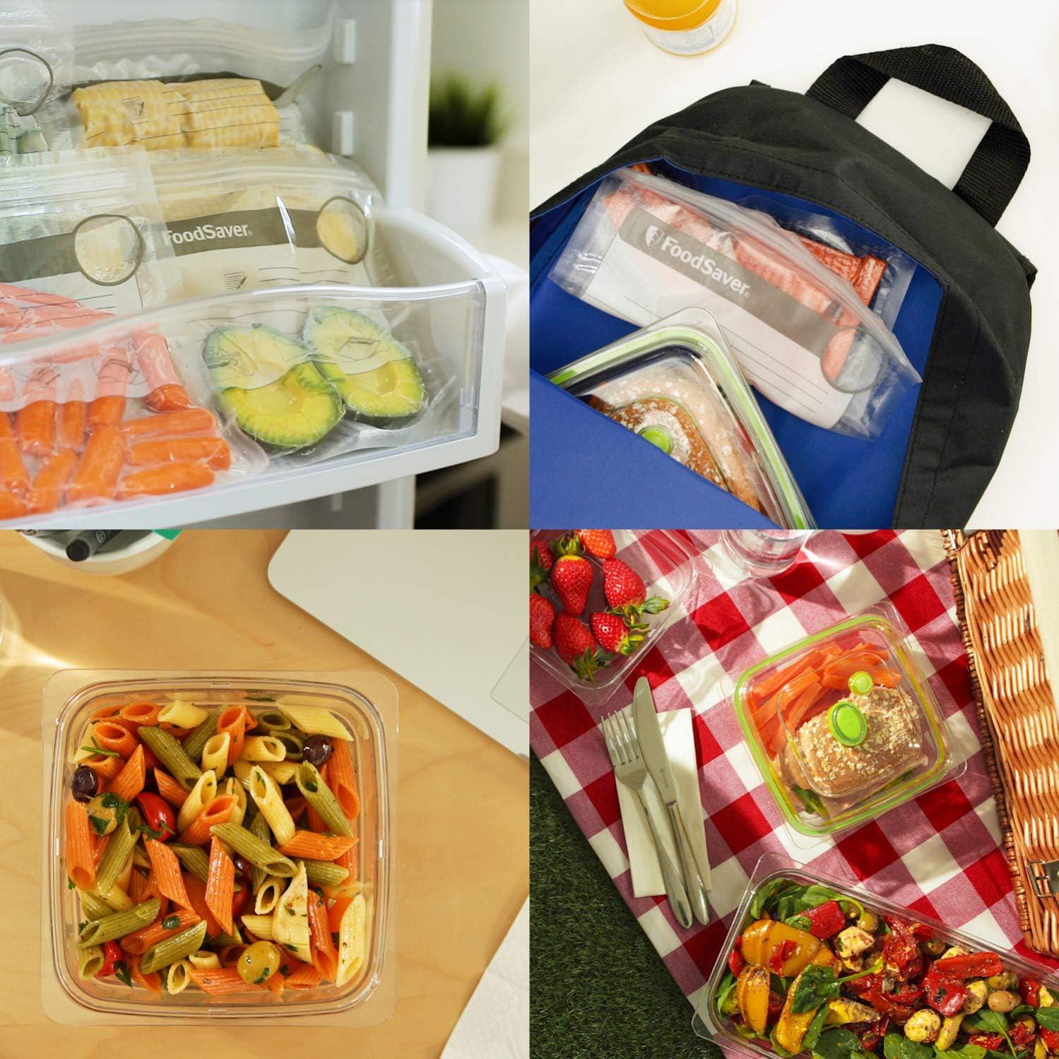 FoodSaver FGP252X Lot de rouleaux et sacs alimentaires pour emballage sous-vide