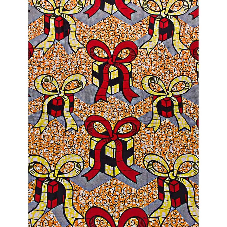 Premier African Fabric Stores Online Super Deluxe Wax Gifts Orange sw907640